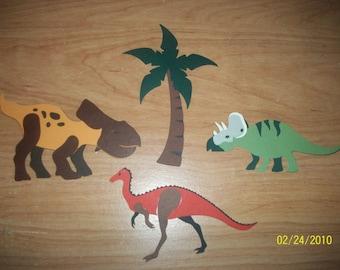 set of 3 dinosaur diecuts-C
