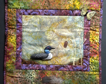 Loon Art Quilt Pattern