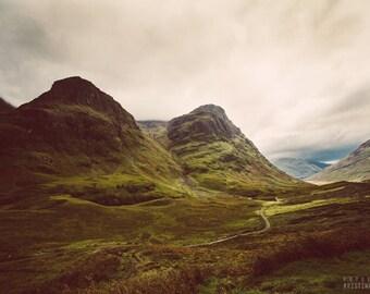 GLEN photography print,  Highlands Scotland landscape, 8x12