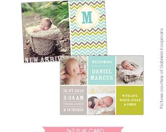 INSTANT DOWNLOAD  - Birth announcement template- E478