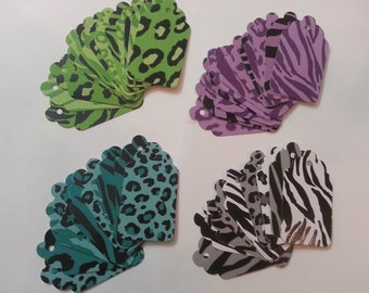 Tags animal print, Safari Tags, Chic Animal Print Gift Tags, Label Tags, Pink Zebra Print, Leopard Cheetah Print, Animal Print Tags, Party