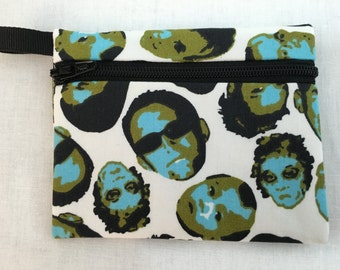 Faces Zipper Coin Purse, Credit Card, Earbud, iPod Pouch