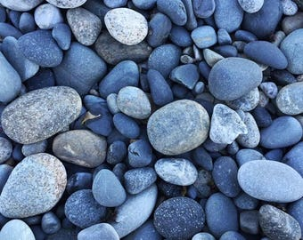 Blue Pebbles - Wells Beach, Maine - Photography
