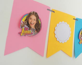 "Decorative banner themed ""soy luna"""