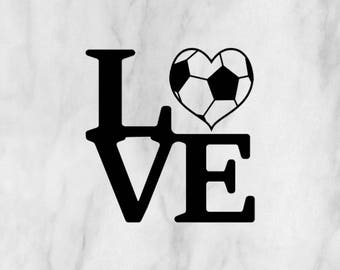 Soccer Love Decal / Monogram sticker / yet cooler monogram decal / laptop decal / car decal