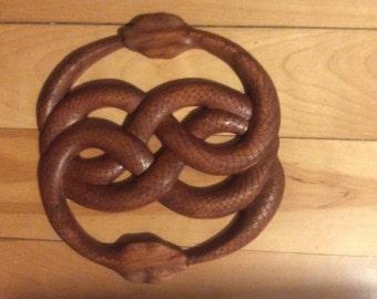 Wood carved Auryn