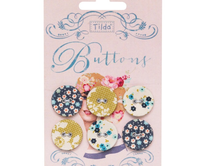 TILDA Memory Lane - 20mm Fabric Covered Buttons