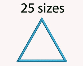 Triangle Applique Machine  Embroidery Design, 25 Sizes, Basic Shape DIGITAL INSTANT DOWNLOAD 048