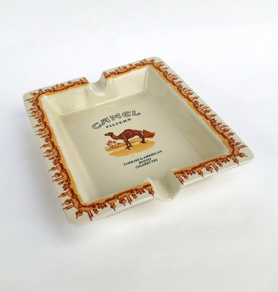 Retro Camel Brand Tobacco Ceramic Ashtray