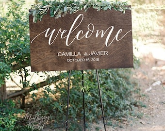 NEW* Wedding Welcome Sign, Rustic Wood Wedding Sign, Personalized, Wooden Wedding Sign, Wood Wedding Welcome Sign