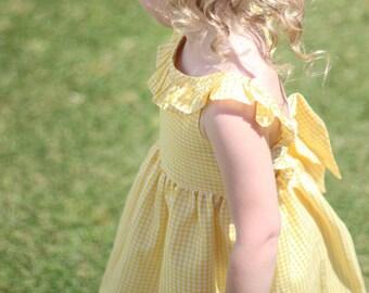 The Kate Dress - toddler girls dress - yellow dress - summer dress - kids dress - girls dress