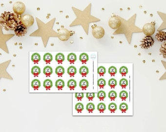 Christmas Countdown Wreath Planner, Penpal and Journalling Stickers HBS0090
