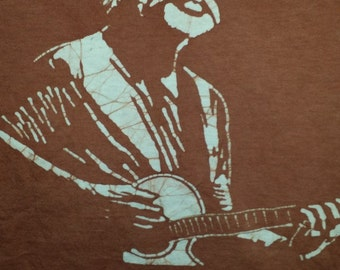 Bob Weir Grateful Dead hand made brown batik.