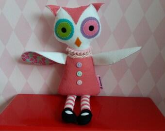 handsewn felt owl