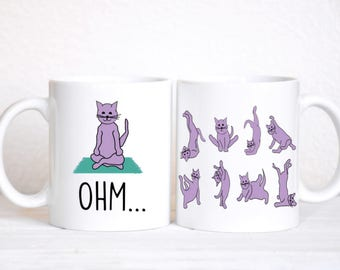 Kitty Yoga / Cat Yoga / Cat Mug / Funny Mug / Coffee Mug / Cat Lady Mug / Cat Lady Gift / Yoga Mug / Yoga Gift / Namaste / Coffee / Tea