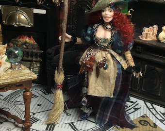 Halloween, Witch, Gypsy, Miniature Witch, Doll House Doll, Gypsy Witch, Kira Nightwing