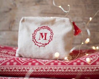 My little secret pouch SAN VALENTINO Bustina da borsetta con iniziale e messaggio segreto ricamati ideale come regalo di San Valentino