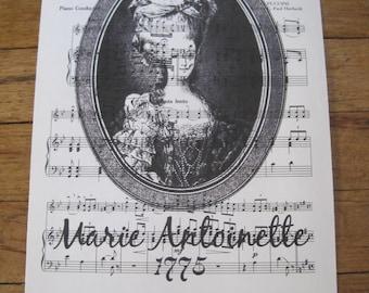 NEW french market marie antoinette on vintage sheet music