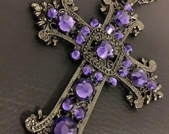 Purple velvet renaissance cross