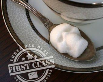 Sugar Skulls with First Class Shipping // 3 Bags skull stocking stuffer // Mini Sugar Skull // Gothic Gift Christmas // Stocking Stuffer