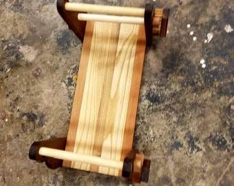 Walnut, Ash and Cherry tablet card weaving loom