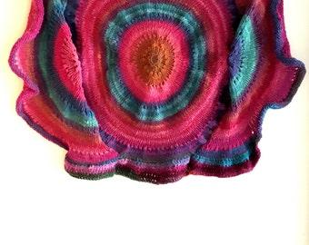 Knit wall hanging - amoeba - wall hanging - free shipping