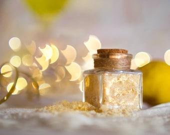 LEMON Flavored Sugar -Sunburst, Wedding favor
