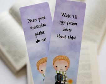 Draco Malfoy paper bookmark