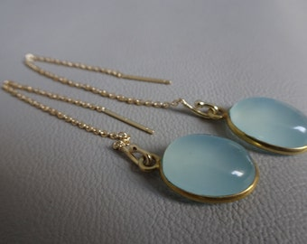 SALE!! 20% OFF!! Yellow gold plated Silver earrings with gemstone aquamarine dangling sterling 925 zilver gift for girl gift for woman