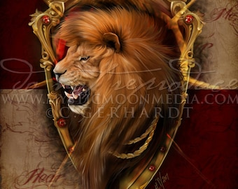 Inspired By Game of Thrones / House Lannister / Cersei / Tyrion / Art Print / Nerd Gifts / Jamie / Lion / King / Nerdy / Inspired Art