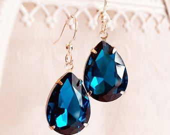 Victorian Earrings - Teal - Bridesmaid Gifts - CAMBRIDGE Teal