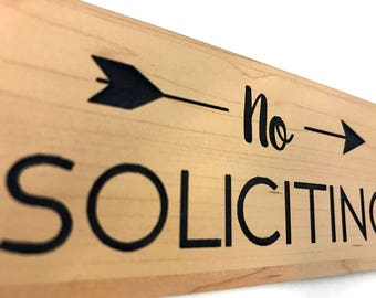 No Soliciting Sign for Home or Business | Laser Engraved on stylish material