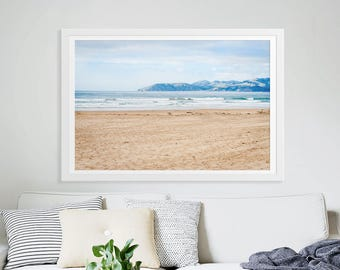 "Large Beach & Mountain Range California West Coast Photography // Large Scale Ocean Art Prints // Large Living Room Art - ""Out Here in Cali"""