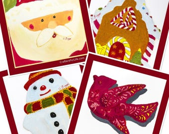 Holiday Coasters with Artwork by Special Needs Adult