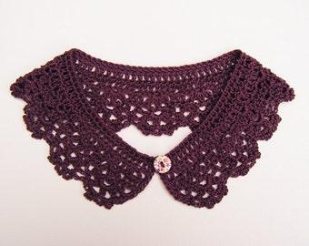 Purple Detachable Crochet Collar Neck Accessory