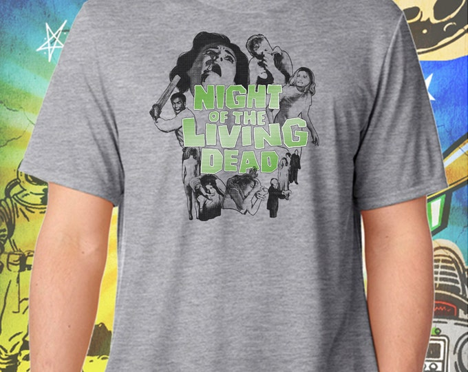 Night of the Living Dead Poster Style / George Romero / Men's Zombie Gray Performance T-Shirt