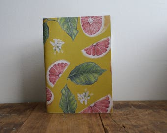 Hand-bound A5 Sketchbook - Grapefruit