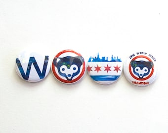 Cubs World Series Magnet Set