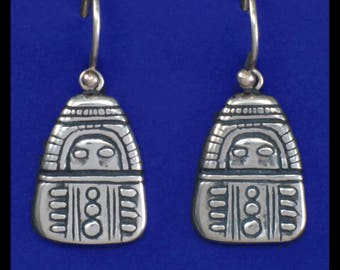Columbia River Gorge Amulet- Sterling Silver- Earrings