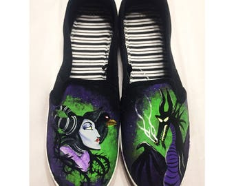 Maleficent Hand-Painted Shoes