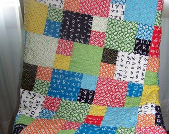 A is for . . . Baby Girl/Toddler Quilt - Reproduction Feedsack Prints