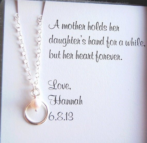 Mother of the Bride Mother of the Groom infinity pearl