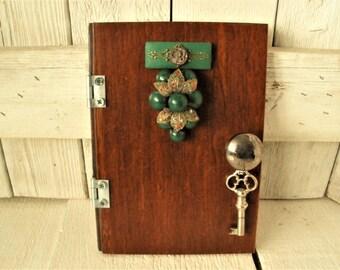 Fairy door real wood metal fixtures with key imaginative play magic wall art/ free shipping US