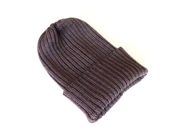 Babies/Children's virgin wool short beanie hat/toddlers/teens/ribbed/rib knit/gray/blue/boys/girls