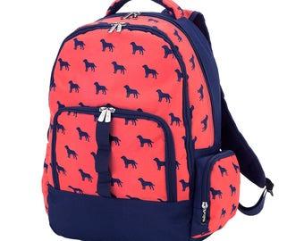 Backpack Kids Backpack Orange Backpack Back to School Backpack Personalized Gifts Monogrammed Gifts for Him