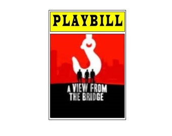 Theater / Show Charm - Playbill Play Bill - A View From the Bridge