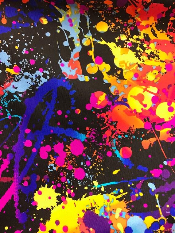 Splatter Paint 4 Way Strech Fabric 60 By The Yard