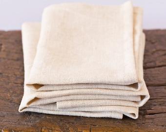 Cream 100% Hemp Napkins – Unbleached Hemp – Eco-friendly Table Linen