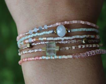 Seed Bead Bracelets (Set of Six)