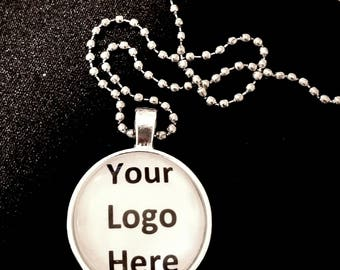 1 custom logo necklace/Custom Jewelry/Business advertising/company marketing